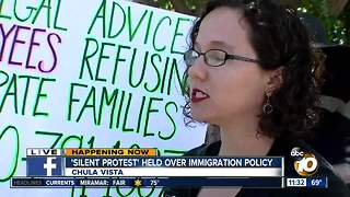 Silent protest over immigration policies - Video