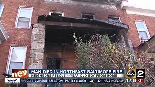 Man dies in Northeast Baltimore fire - Video