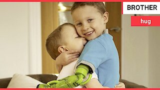Little boy can finally hug his brother after receiving prosthetic arm