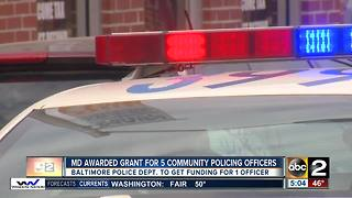 Maryland receives DOJ grant for community policing officers - Video