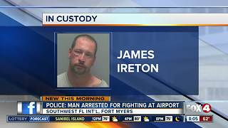 Police: Man arrested for public intoxication at the airport - Video
