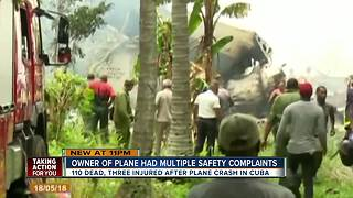 Cuba plane crash - Video