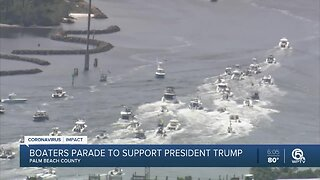 Hundreds of boaters show support for President Trump with boat parade in Palm Beach County