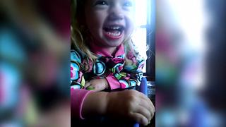 """Cute Little Girl Laughing Contagiously"""