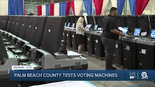 Palm Beach County tests voting machines ahead of November election