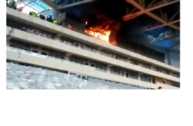 Fire Breaks Out in Stadium Under Construction For 2018 World Cup - Video