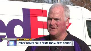 FedEx driver foils scam, police issue warning about fake cops demanding money - Video