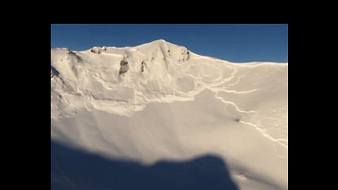Avalanche Triggered to Spectacular Effect in Swiss Alps