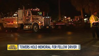 Towers hold memorial for fellow driver
