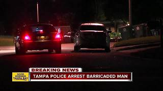 Intoxicated man arrested after barricading himself inside Tampa home, holding three people hostage