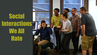 Awkward social interactions: Elevators, handshakes, and conversations - Video