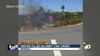 Driver killed in fiery car crash