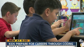 Kids prepare for careers through coding