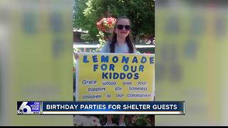 Five-year-old hosts parties for homeless kids - Video