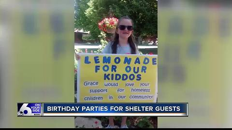 Five-year-old hosts parties for homeless kids