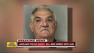 Officers kill a 71-year-old Lakeland man carrying a shotgun who allegedly threatened his neighbors - Video