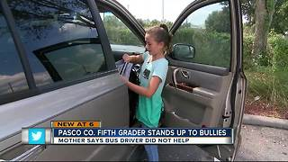 Florida 5th grader stands up to school bus bullies - Video