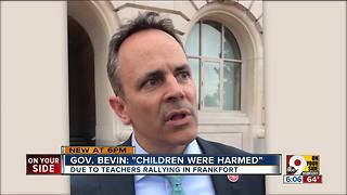 Bevin claims 'children were harmed' - Video