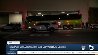 Migrant girls arrive at Convention Center