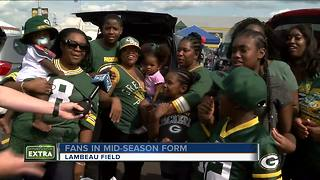 Tailgaters swarm Lambeau Field for Packers' Family Night - Video