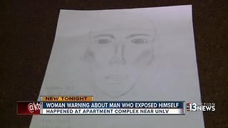 Student says man exposed himself to her outside apartments