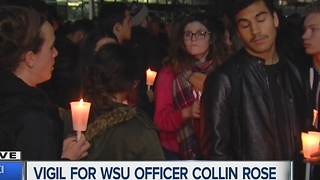 Vigil held for Wayne State University police officer Collin Rose - Video