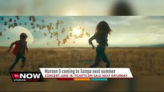Maroon 5 to perform at Tampa's Amalie Arena in 2018 - Video
