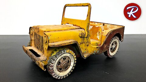 Vintage rescue restorations: 1960's Tonka toy Jeep