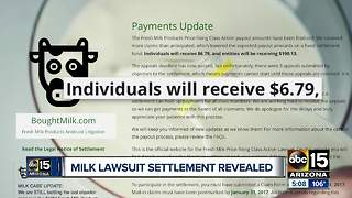 What happened to that milk lawsuit settlement?