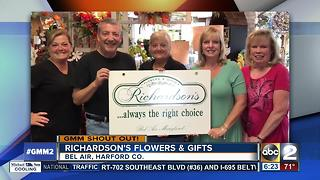 Richardson's Flowers and Gifts says Good Morning Maryland
