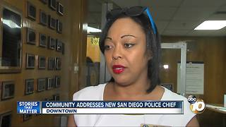 Community address news San Diego police chief - Video