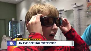 Specialized glasses help North Olmsted sixth-grader see colors for the first time - Video