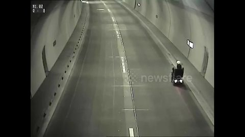 Pensioner arrested after riding mobility scooter through tunnel