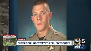 Visitation for fallen DPS trooper - Video