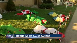 Strong winds cause damage across SE Wisconsin - Video