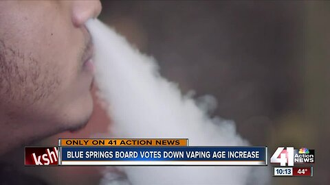 Blue Springs advisory board votes against increase to vaping age limit