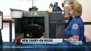 New TSA screening rules for carry-ons - Video