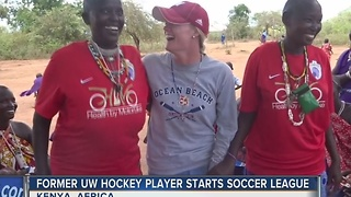 Former UW hockey player starts soccer league in Kenya, Africa - Video