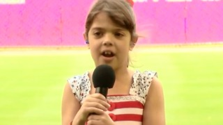 Palm Beach Gardens girl dreams of singing in the majors - Video