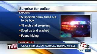 5-year-old driver surprised police in Laporte, Indiana - Video