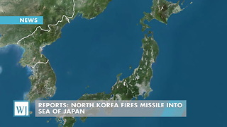 Reports: North Korea Fires Missile Into Sea Of Japan - Video