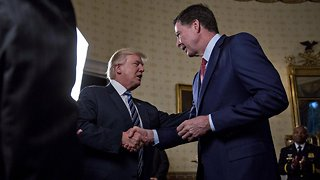 Trump Again Denies He Fired Comey Over Russia Investigation - Video
