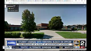 School fight sends officer and hall monitor to hospital after student throws bleach - Video