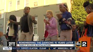 Dawson family members remembered 15 years after their death - Video