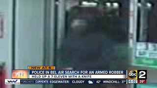 Thief robs Bel Air 7-Eleven with a kitchen knife - Video