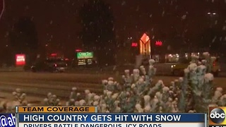 Heavy band of snow moves through Flagstaff in winter storm - Video
