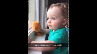Baby's Disappointment When Daddy Doesn't Come Home - Video
