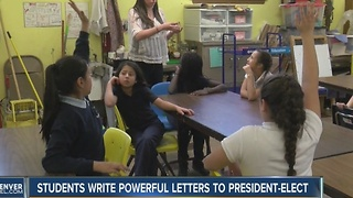 5th graders write letters to Donald Trump expressing deporation fears - Video