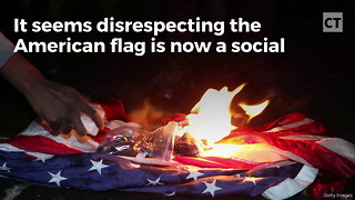 College Professor Cheers After Tricking Students Into Disrespecting American Flag - Video