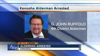 FB: Kenosha Alderman Ruffolo arrested, awaiting charges - Video